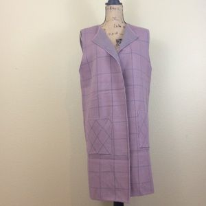 Rain purple sleeveless long sleeveless coat